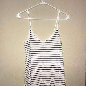Stripped Midi Dress - Forever 21